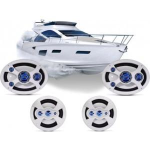 Combo Alto Falantes Marinizados Barcos E Lanchas – Shm.6069