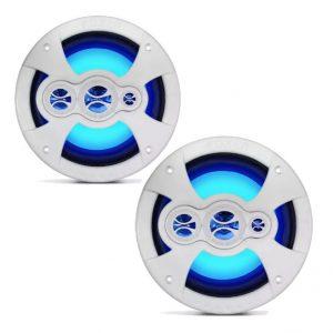 2 Pares Alto Falantes Náuticos 6 In LEDs Azuis 360w Rms – Shm.60LZ